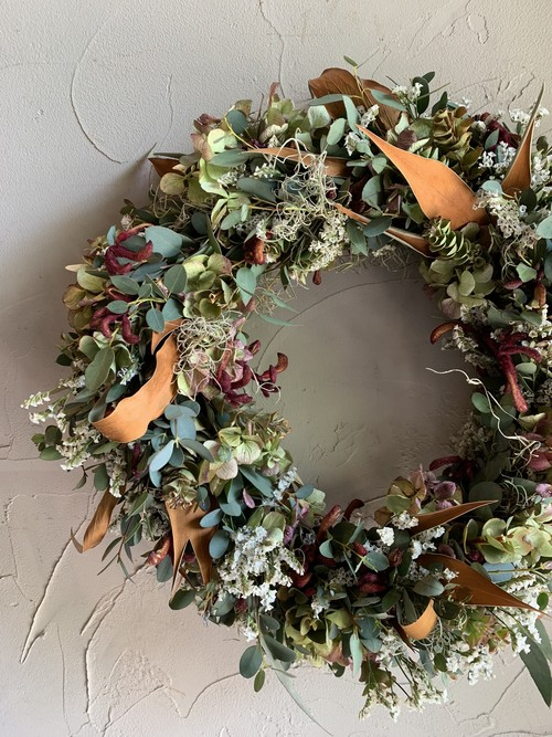 dry flower wreath -order made -