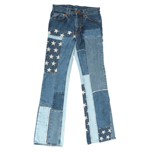 HystericGlamour PatchWork FlareDenimPants
