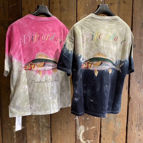 children of the discordance / HAND DYEING AND PRINT TEE TYPE B-2