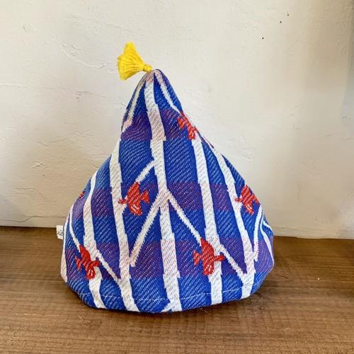 【こびとキャップ】/mori no kaze/ブルー/original textile