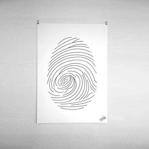 fingerprint / ポスター /シルクプリント