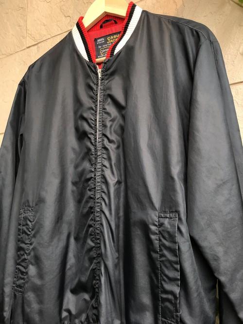 1960s British black nylon casual jacket