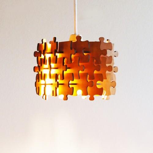「パズル」木製ペンダントライト おしゃれ 照明
