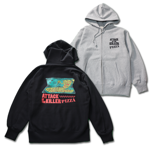 ATTACK OF THE KILLER PIZZA Zip Hoodie