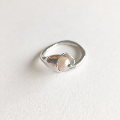 silver 925 calla lily ring #11[r-132]