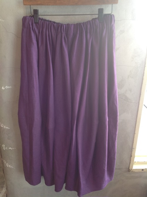 〔ladys item‼︎〕POLESTAR    linen barrel cut skirt