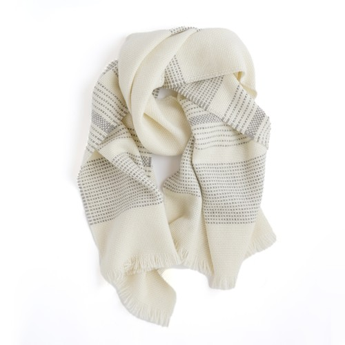 THE INOUE BROTHERS/Alpaca Wool Scarf/White
