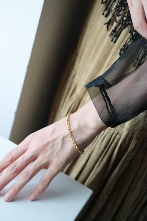 GIVENCHY gold tone chain bracelet