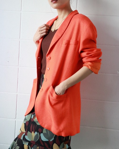 orange spring jacket