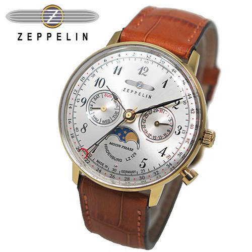 ツェッペリン ZEPPELIN ヒンデンブルク クオーツ ユニセックス 腕時計 7039-1 シルバー