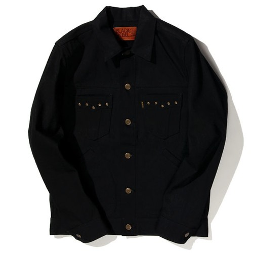 Road Jack-2 DENIM JKT (BLACK/BLACK) / RUDE GALLERY BLACK REBEL