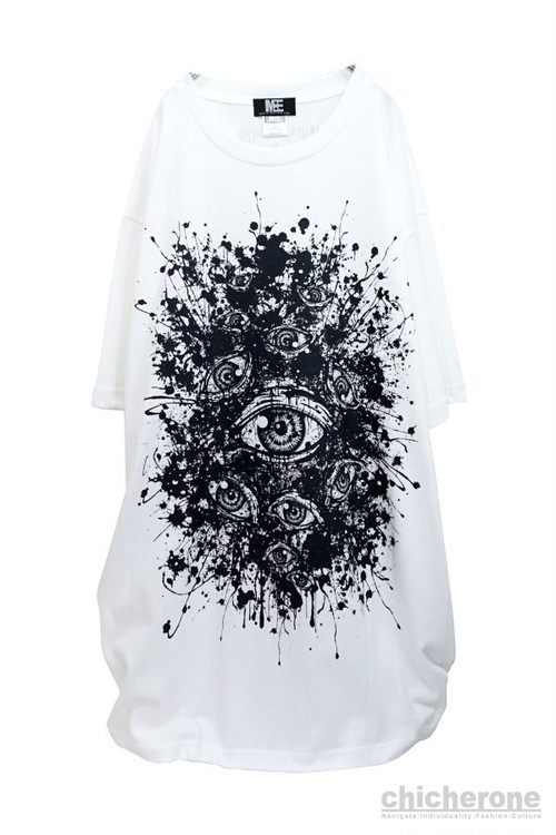 "【M:E】""splat""BIG-Tshirt[WHITE]"