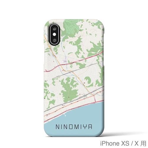 【二宮】地図柄iPhoneケース(ナチュラル)