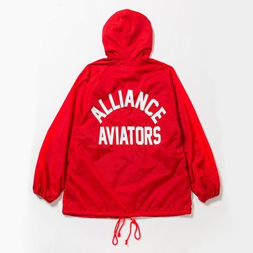 AVIATORS BIG HOODED COACH JKT - RED