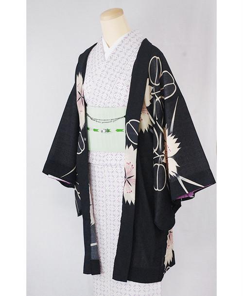 羽織【撫子と萩】黒