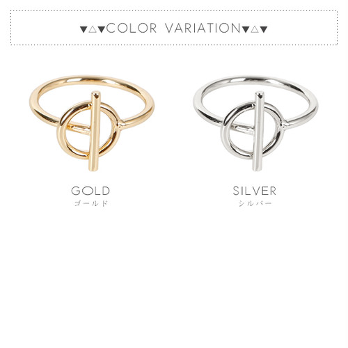 【リング】全2色!メタルマンテルデザイン指輪
