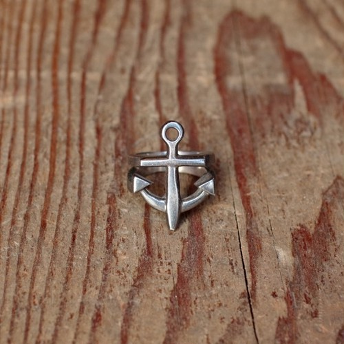 """Anchor"" Ring Silver 925 / 碇型 シルバー リング アンカー"