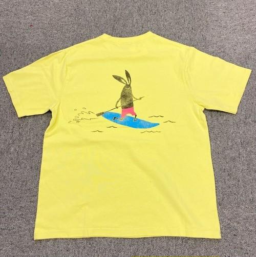 Shabby 「SUP」 Back Print T-shirts Yellow