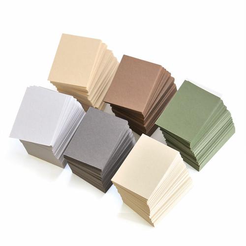〈期間限定〉だいし屋が選ぶ紙 秋色のカード(100枚)47×67mm A051