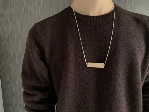 Leather both necklace