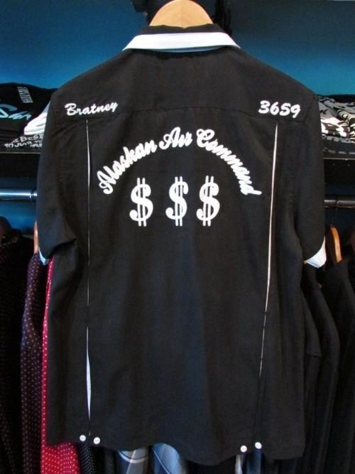 S/Sボーリングシャツ $$$ ブラック HOUSTON