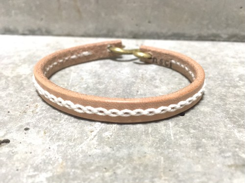 Chain stitch bracelet(Natural)