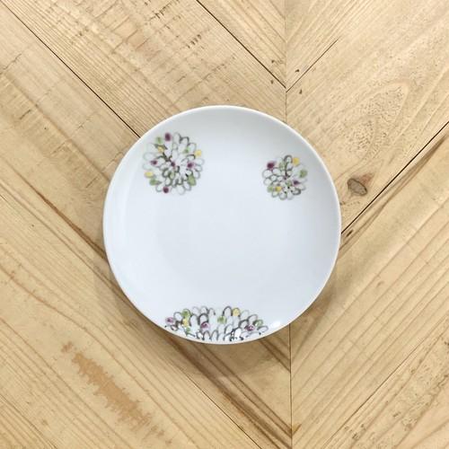 色絵菊  5寸皿