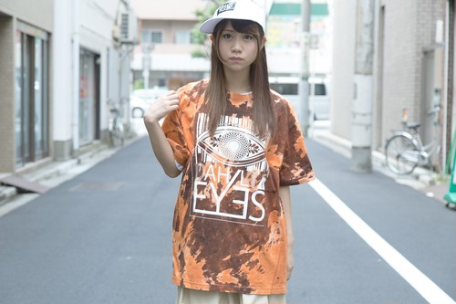 BIG EYE Vintage Bleach T-shirt(RED)