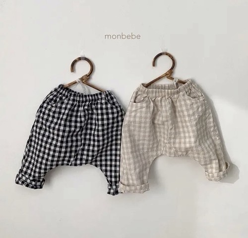 《予約》monbebe✱check pants