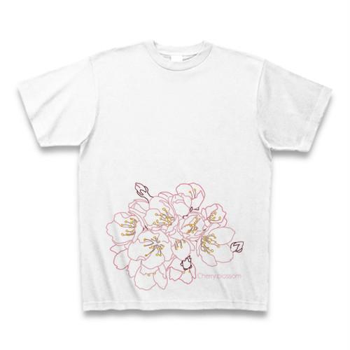 彼岸桜 フラワーイラストTシャツ
