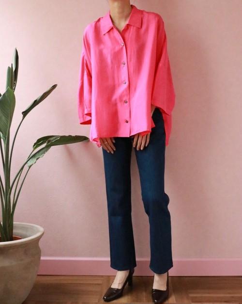 hot pink silk shirt