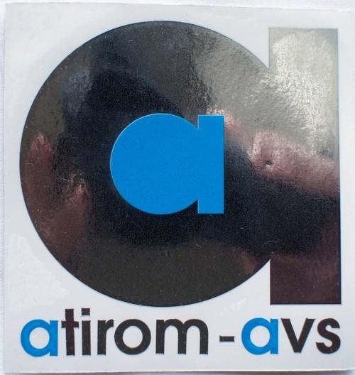 atirom-avs カッティングステッカー (SILVER MIRROR)
