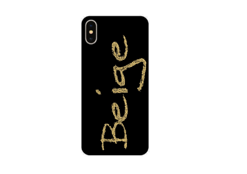"【受注発注】words color series ""Beige"" 強化ガラス仕上げ iphone case 7/7Plus/8/8Plus/X/XS Max/XR"