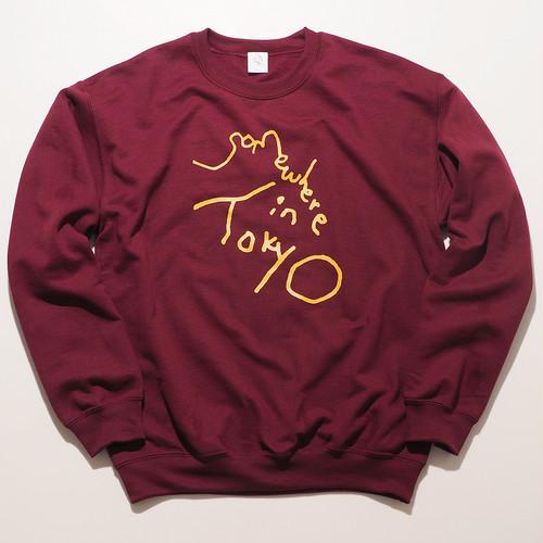 Sweat Shirt / Designed by Tomoo Gokita / Burgundy