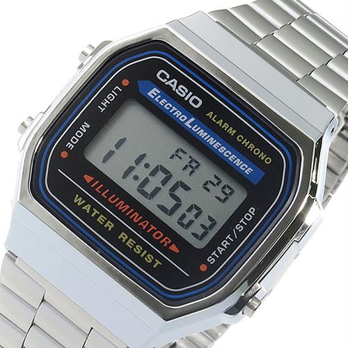 カシオ CASIO デジタル クオーツ メンズ 腕時計 A168WA-1 シルバー 液晶