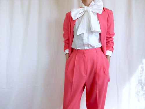 Vintage pink set up suits