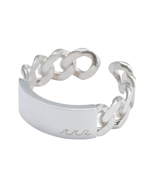 FLAT LINK CHAIN RING-SILVER[REA160]
