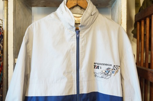 80's BF GOODRICH zip-up bicolor racing Jacket