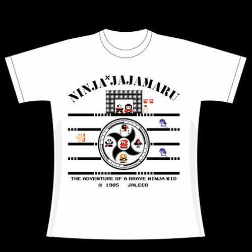 忍者じゃじゃ丸くん J-01  Tシャツ・プレミアムホワイト / GAMES GLORIOUS