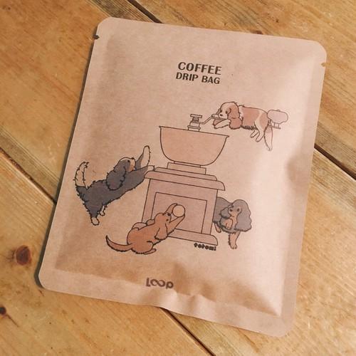 オリジナルドリップバッグコーヒーキャバリアコーヒーミル柄