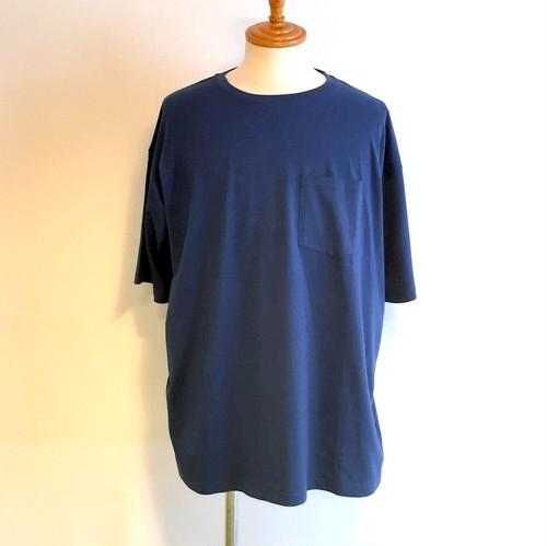 Cotton S/S Big T-shirts Blue