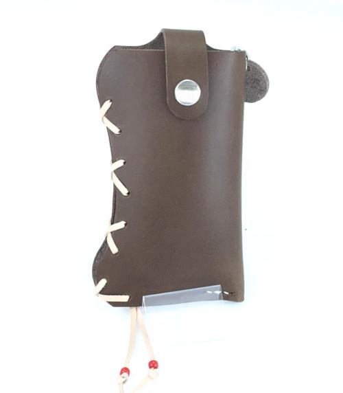 携帯電話ケース 革:チョコ