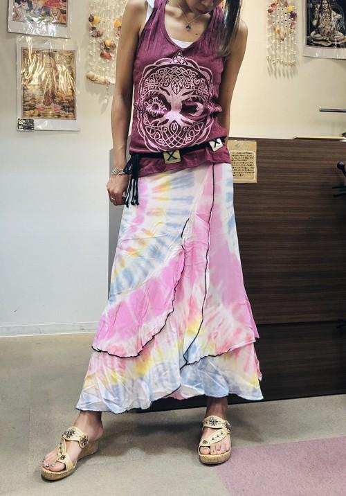 タイダイ巻きスカート