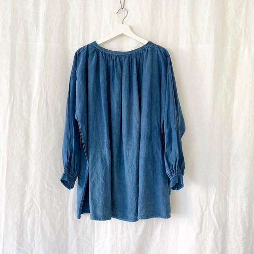 FRANCE 〜1920 antique indigo linen smock