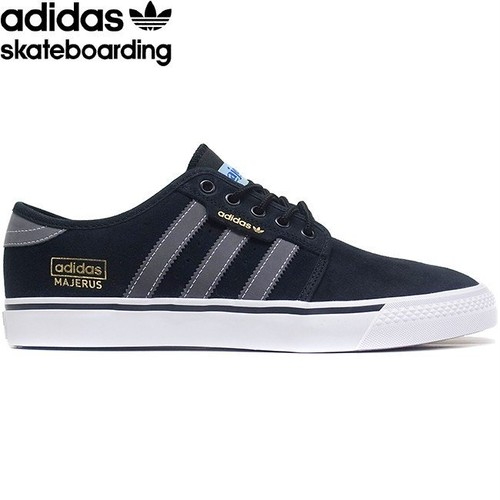 adidas skateboarding SELLEY OG ADV X ALEC MAJERUS SKATEBOARD SHOES BLACK GREY WHITE