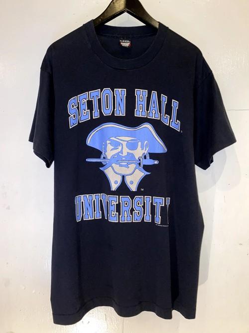 SETON HALL UNIVERSITY カレッジプリントTシャツ