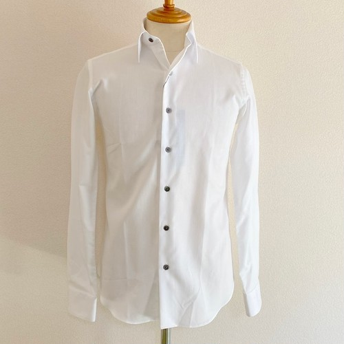 Pique Regular Collar Shirts White