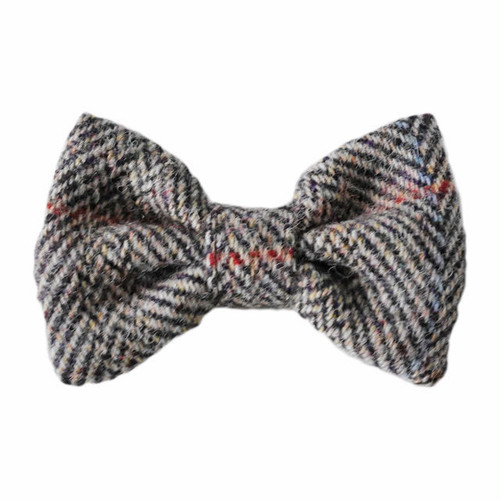 HT bowtie Brown herringbone
