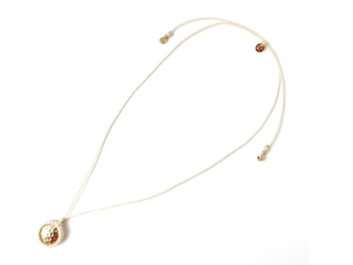2WAY Wrapped Metal Necklace/White (Gold/Silver)[ロングネックレス,チョーカー]