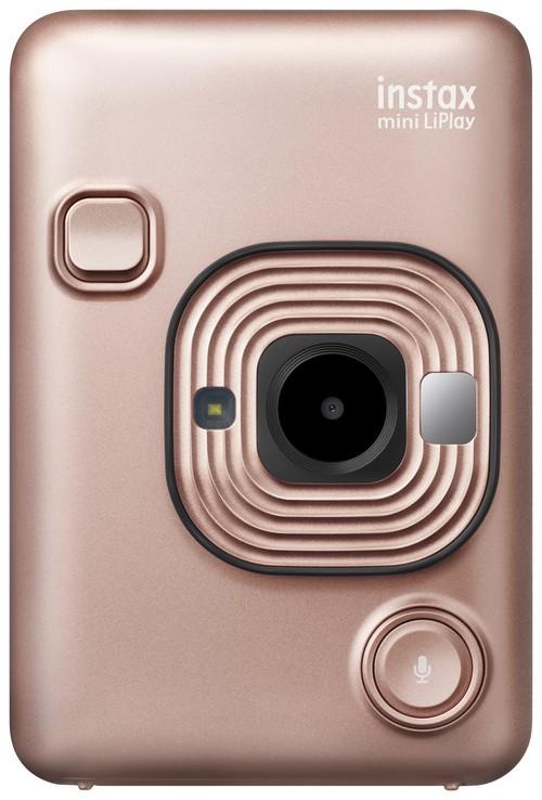 新型チェキ⭐︎超おトクなおためしフィルム+アルバム2大おまけ付き!! ブラッシュゴールド instax mini LiPlay FUJIFILM フジフイルム インスタント写真カメラ 本体 その場でプリント